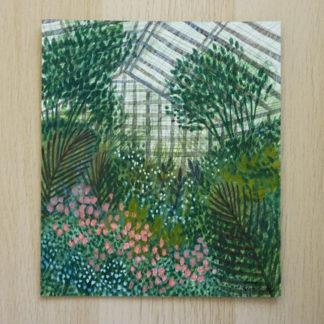 greenhouse, art, painting, plants